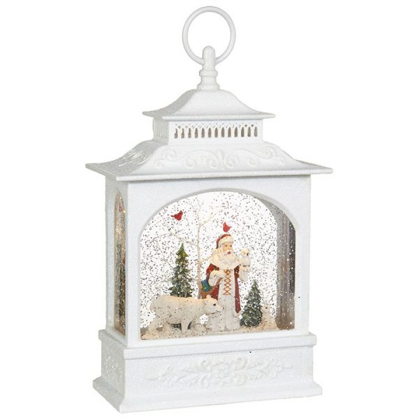 Christmas On Main 11 inches Santa Polar Bear Lighted Water Lantern