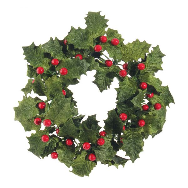 Christmas On Main Holly & Berry Candle Ring