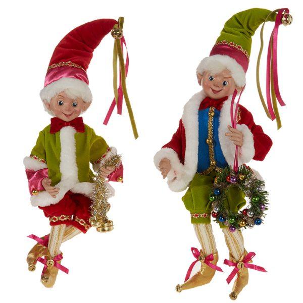 Christmas On Main Multi Coloured Posable Elf
