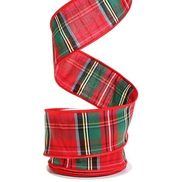 Christmas On Main PLAID WIRED RIBBON