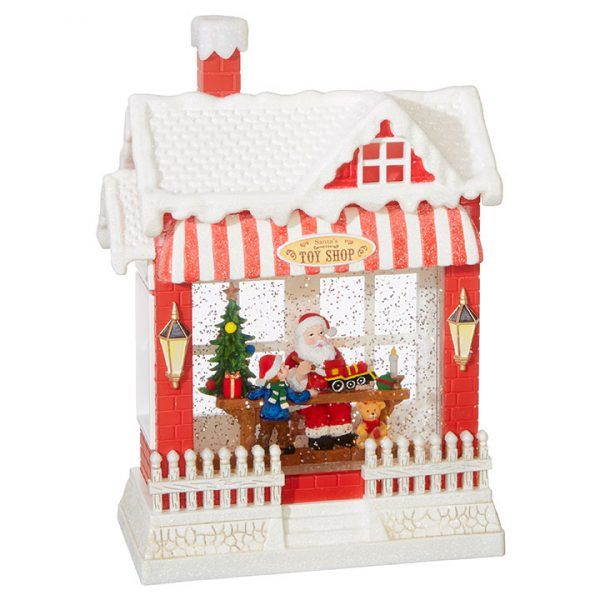 Christmas On Main 10 inches SANTA'S TOY SHOP LIGHTED WATER HOUSE-Mornington-Peninsula