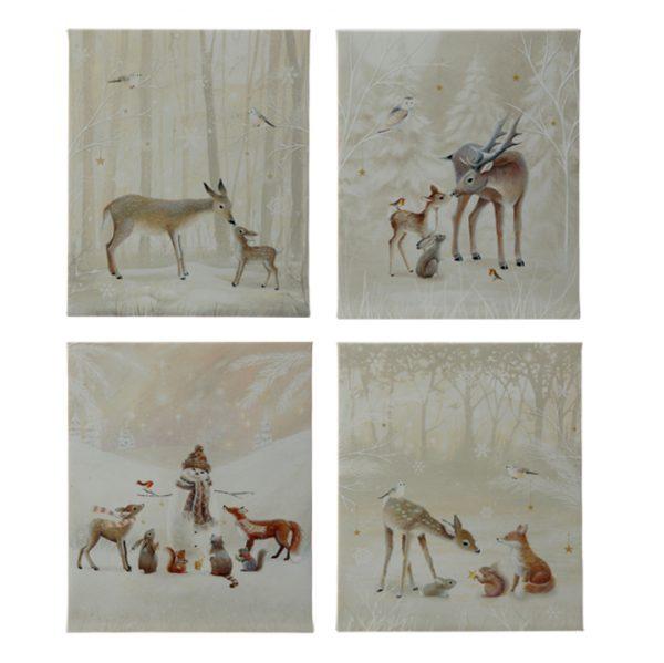 Christmas On Main 10 inches WOODLAND ANIMAL LIGHTED PRINT-Mornington-Peninsula