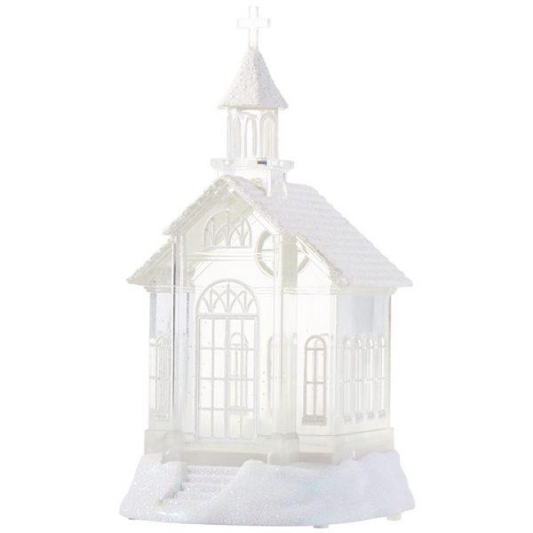 Christmas On Main 10.5 inches LIGHTED CHURCH WATER LANTERN-Mornington-Peninsula