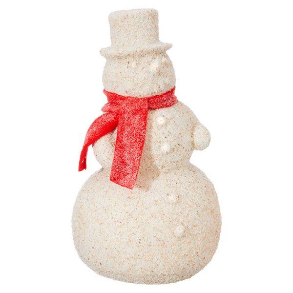 Christmas On Main 10.5 inches SAND SNOWMAN ORNAMENT-Mornington-Peninsula