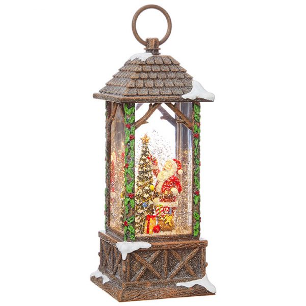 Christmas On Main 10.75 inches SANTA DECORATING TREE LIGHTED WATER LANTERN-Mornington-Peninsula
