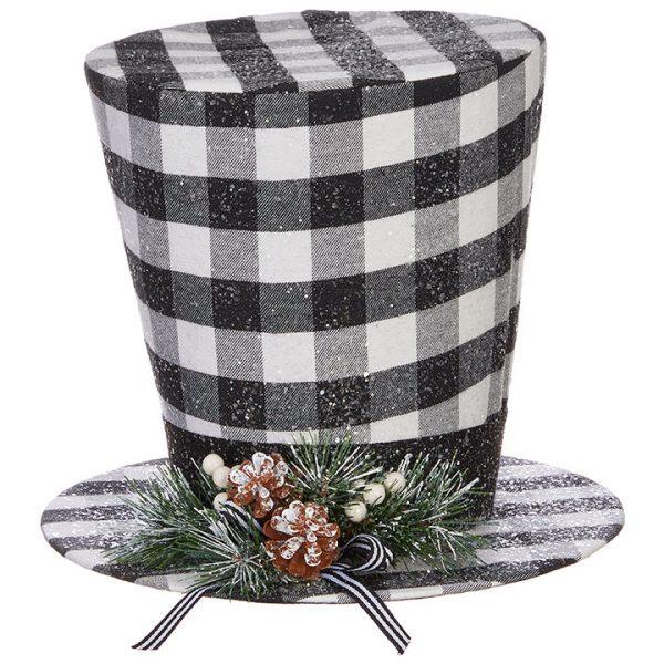 Christmas On Main 11 inches CHECKED TOP HAT-Mornington-Peninsula