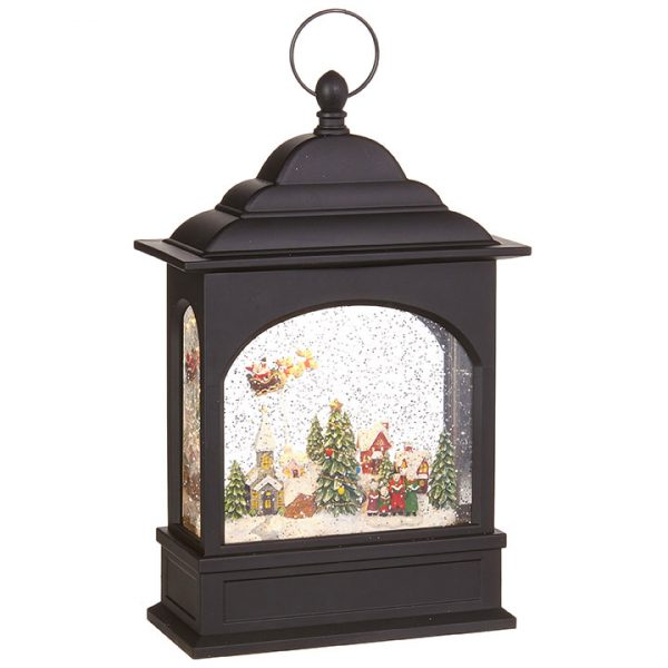 Christmas On Main 11 inches FLYING SANTA LIGHTED WATER LANTERN-Mornington-Peninsula