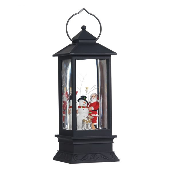 Christmas On Main 11 inches SANTA AND SNOWMAN LIGHTED WATER LANTERN-Mornington-Peninsula