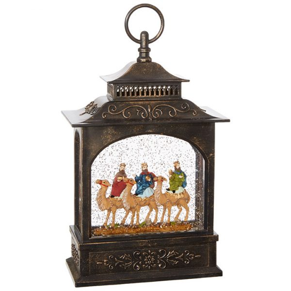 Christmas On Main 11 inches WISEMEN LIGHTED WATER LANTERN-Mornington-Peninsula