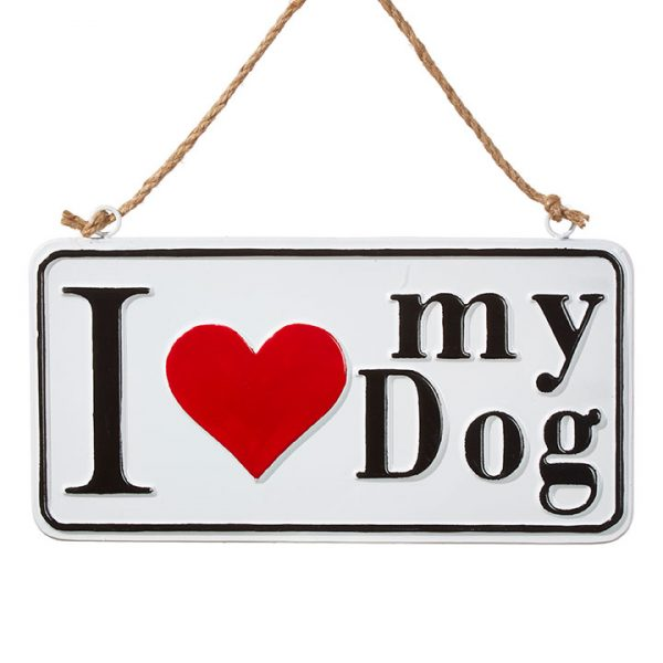 Christmas On Main 13.75 inches I LOVE MY DOG SIGN ORNAMENT-Mornington-Peninsula