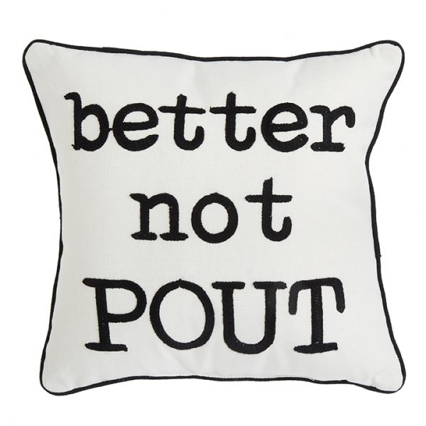 Christmas On Main 14.5 inches BETTER NOT POUT PILLOW-Mornington-Peninsula