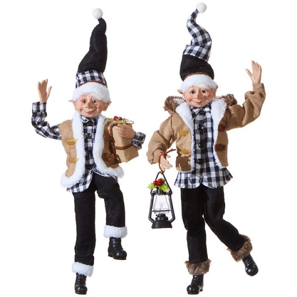 Christmas On Main 16 inches POSABLE ELF checkered-Mornington-Peninsula