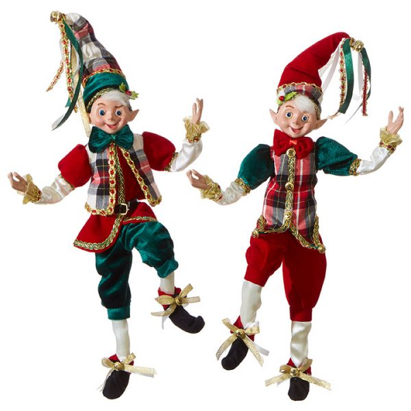 Christmas On Main 16 inches POSABLE ELF checkered blazer-Mornington-Peninsula
