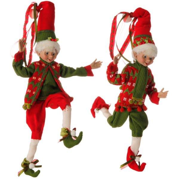 Christmas On Main 16 inches POSABLE ELF green and red-Mornington-Peninsula