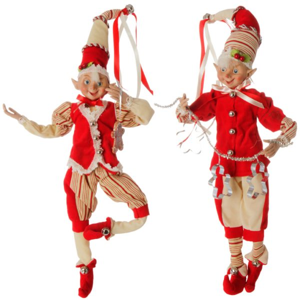 Christmas On Main 16 inches POSABLE ELF red 2s-Mornington-Peninsula