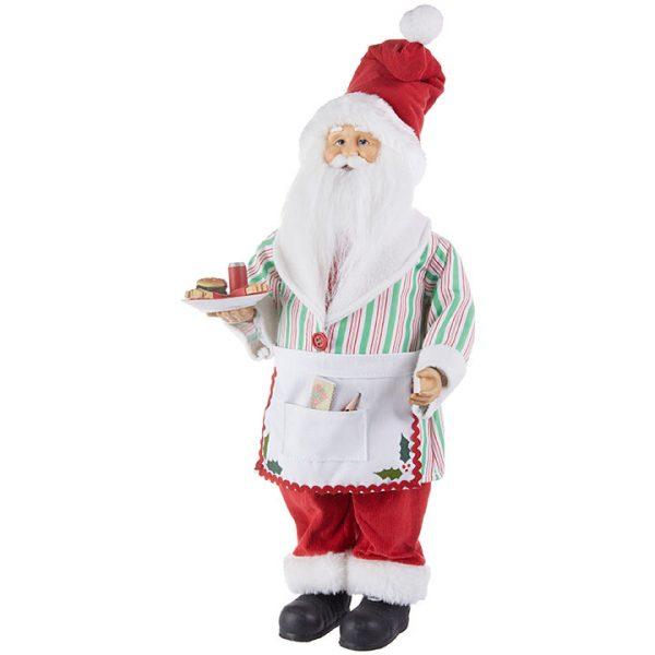 Christmas On Main 18 inches SANTA WITH BURGER AND FRENCH FRIES-Mornington-Peninsula