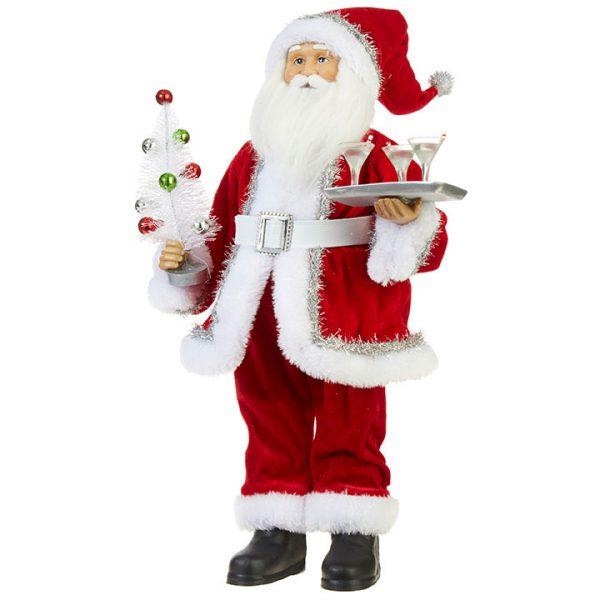 Christmas On Main 18 inches SANTA WITH MARTINI TRAY-Mornington-Peninsula