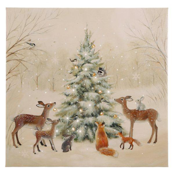 Christmas On Main 18 inches WOODLAND ANIMAL LIGHTED PRINT-Mornington-Peninsula