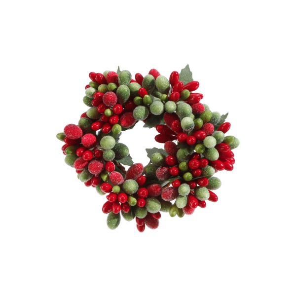 Christmas On Main 3 inches BEADED BERRY CANDLE RING-Mornington-Peninsula