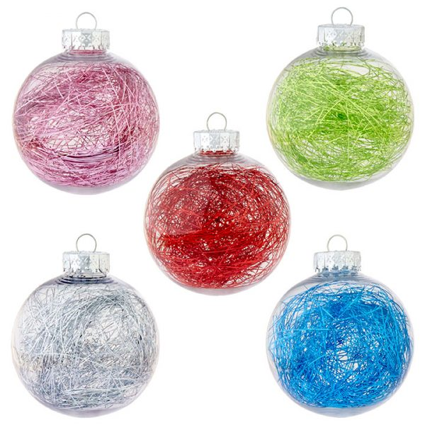 Christmas On Main 3.25 inches TINSEL FILLED BALL ORNAMENT-Mornington-Peninsula