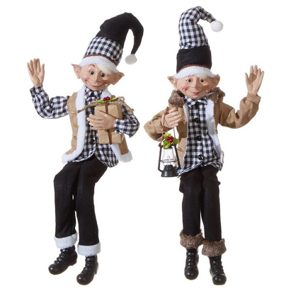 Christmas On Main 30 inches POSABLE ELF checkered-Mornington-Peninsula