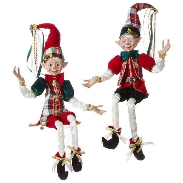 Christmas On Main 30 inches POSABLE ELF checkered blazer-Mornington-Peninsula