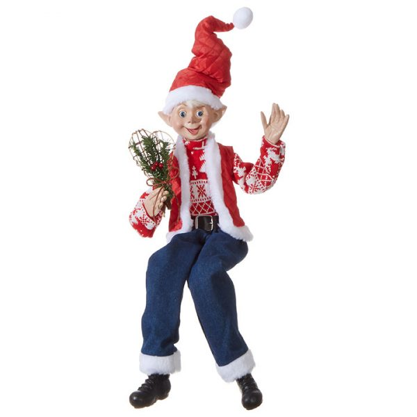 Christmas On Main 30 inches POSABLE ELF denim jeans-Mornington-Peninsula