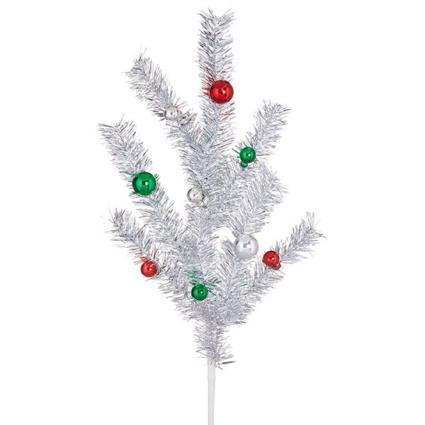 Christmas On Main 31 inches TINSEL BALL SPRAY-Mornington-Peninsula