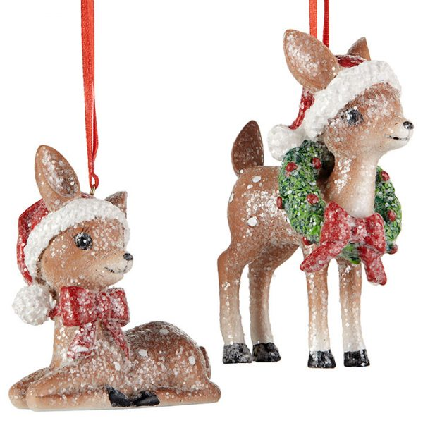 Christmas On Main 4.25 inches VINTAGE DEER ORNAMENT-Mornington-Peninsula