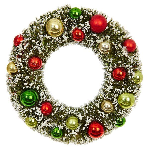 Christmas On Main 4.5 inches BOTTLE BRUSH WREATH ORNAMENT-Mornington-Peninsula