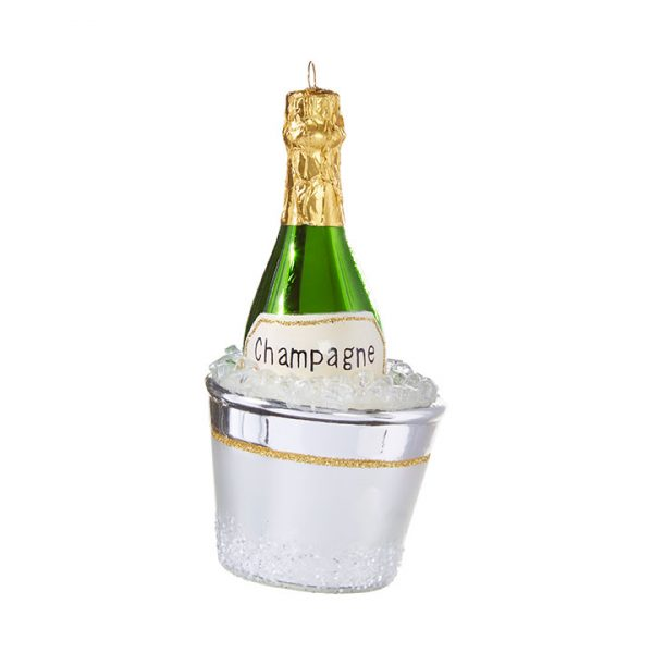 Christmas On Main 5.5 inches CHAMPAGNE BUCKET ORNAMENT-Mornington-Peninsula