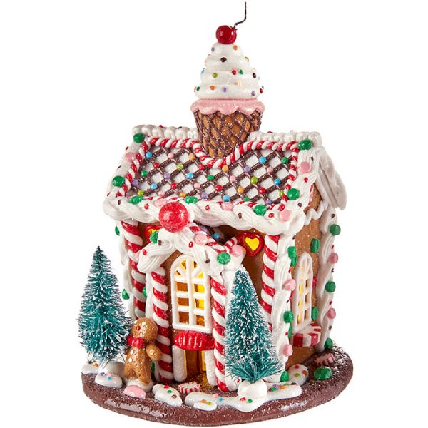Christmas On Main 5.5 inches LIGHTED GINGERBREAD HOUSE-Mornington-Peninsula