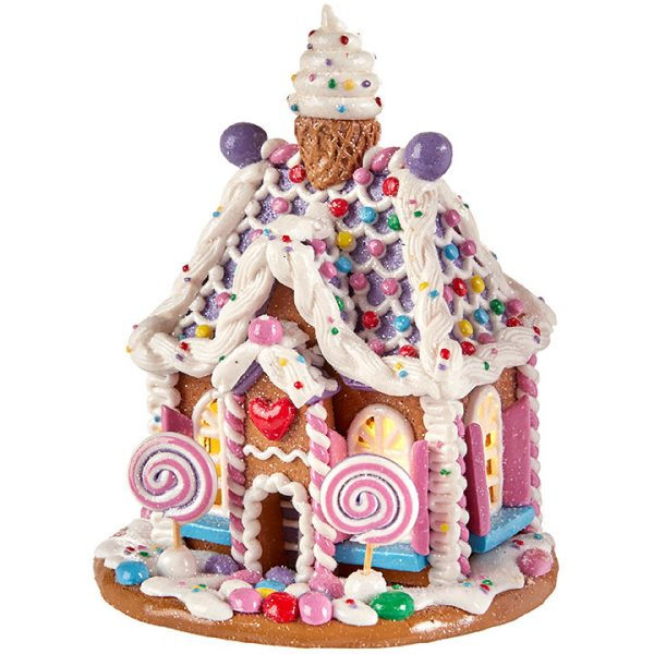 Christmas On Main 5.75 inches LIGHTED GINGERBREAD HOUSE-Mornington-Peninsula