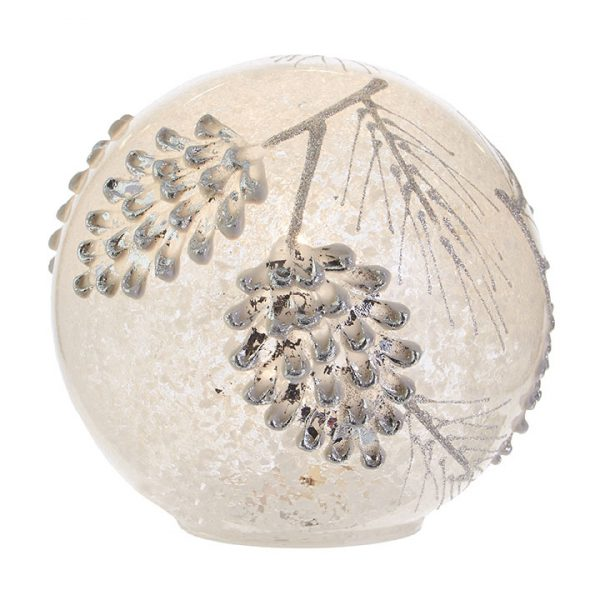 Christmas On Main 6 inches PINECONE LIGHTED BALL-Mornington-Peninsula