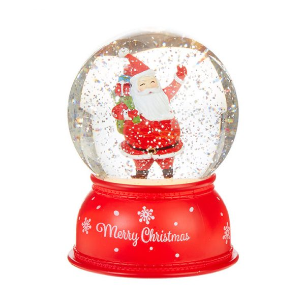 Christmas On Main 6 inches SANTA LIGHTED WATER GLOBE-Mornington-Peninsula