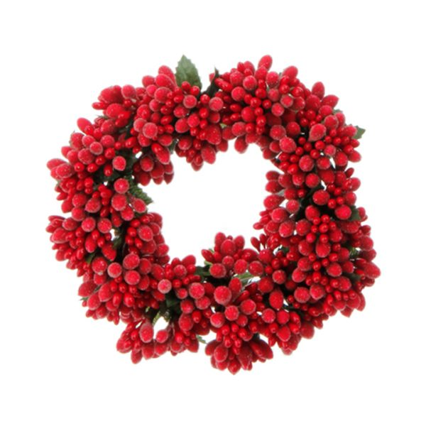 Christmas On Main 6.5 inches BEADED BERRY CANDLE RING-Mornington-Peninsula