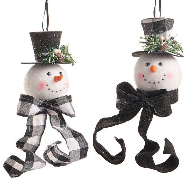 Christmas On Main 6.5 inches SNOWMAN HEAD ORNAMENT-Mornington-Peninsula