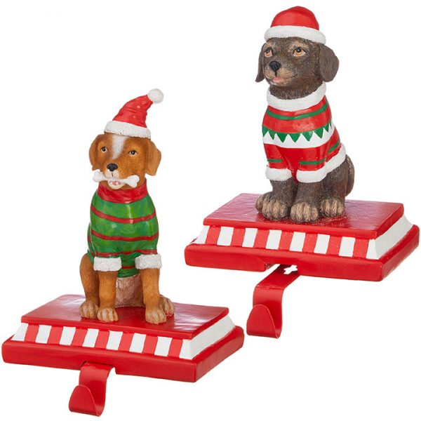 Christmas On Main 7.75 inches DOG STOCKING HOLDER-Mornington-Peninsula