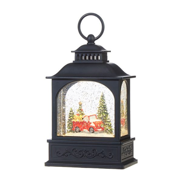 Christmas On Main 8.25 inches DOGS IN TRUCK LIGHTED WATER LANTERN-Mornington-Peninsula