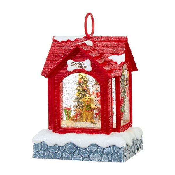 Christmas On Main 8.25 inches SNOWMAN LIGHTED WATER DOG HOUSE-Mornington-Peninsula