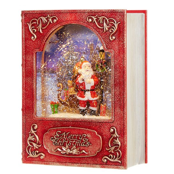 Christmas On Main 8.5 inches SANTA LIGHTED WATER BOOK-Mornington-Peninsula