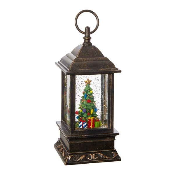 Christmas On Main 9.5 inches CHRISTMAS TREE LIGHTED WATER LANTERN-Mornington-Peninsula