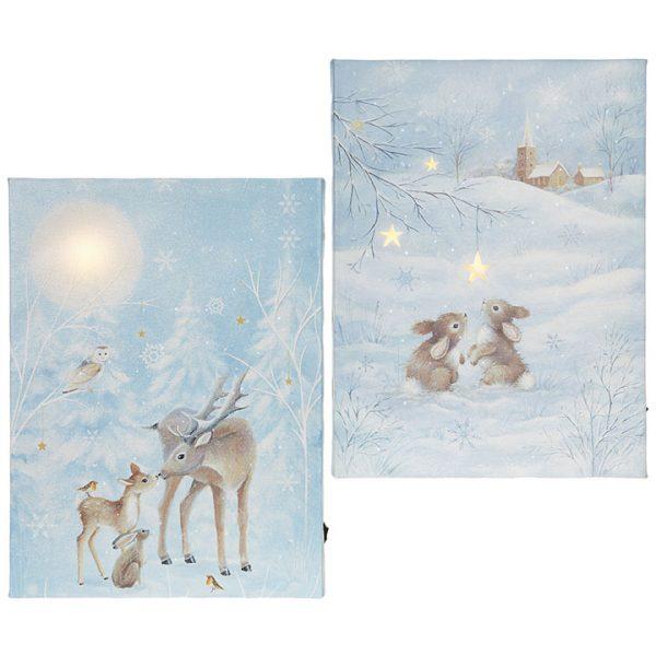 Christmas On Main SB 11.75 inches FOREST ANIMAL LIGHTED PRINT-Mornington-Peninsula