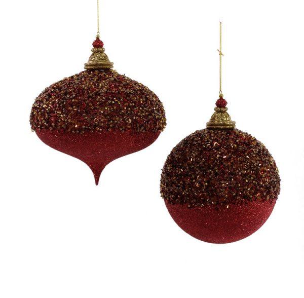 Aspen Large Encrusted Ornament 2A