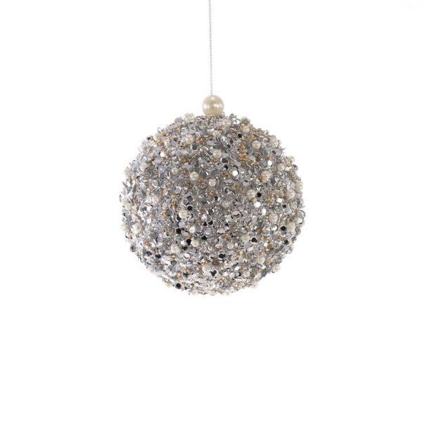 Peace Winter Sparkle Ball Ornament