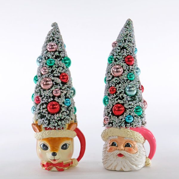 Retro Christmas Tree Mugs 2A
