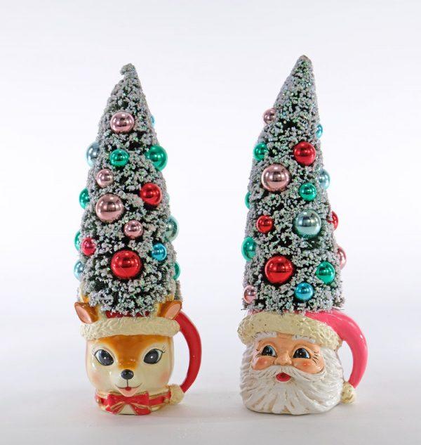 Retro Christmas Tree Mugs 2A