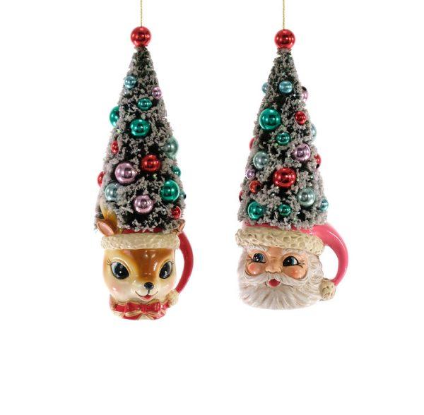 Retro Christmas Tree Mugs Ornament 2A