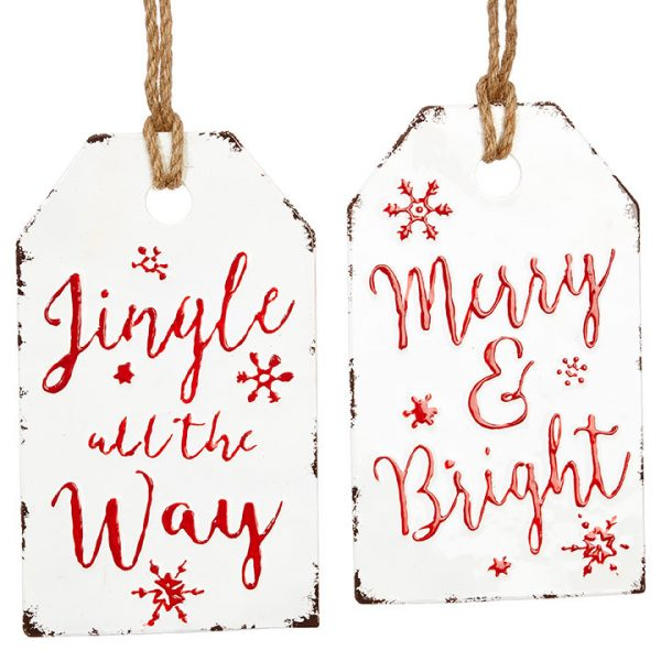 Christmas On Main - 12 Inches Gift Tag Ornament