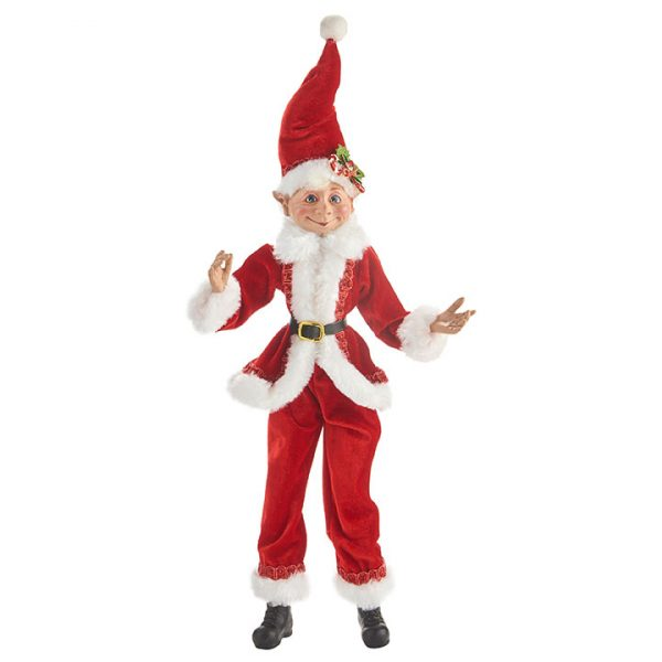 Christmas On Main - 16 Inches Red Posable Elf